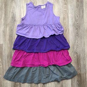 Hanna Andersson purple Tiered Ruffle Dress 140 10